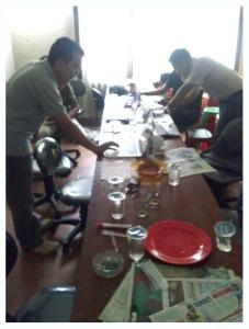 Ruang kontrol deklarasi Pencalonan RK sebagai Walikota Bandung